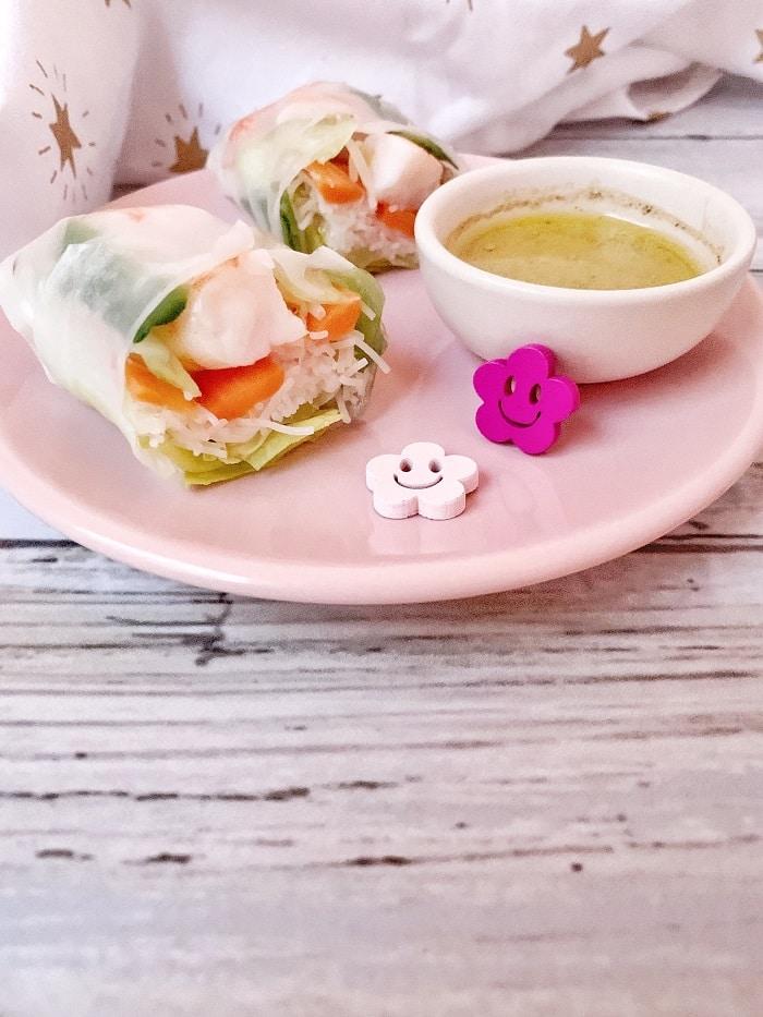 Rouleaux de printemps maison, la solution facile quand on a des intolérances alimentaires : sans gluten, sans lactose et sans oeuf / Un Sourire aux Lèvres