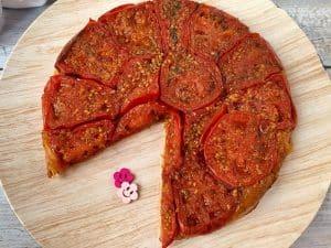 Tarte tatin aux tomates confites, sans gluten, sans lactose et sans oeuf #vegan #glutenfree / Un Sourire aux Lèvres